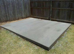 Basamento di cemento per Casetta legno