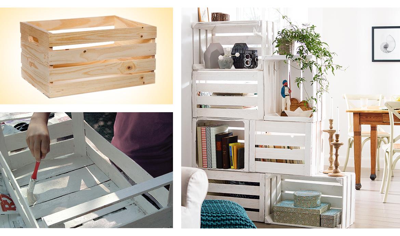 Librerie fai da te originali pallet scale legno e altre - Parete in legno fai da te ...