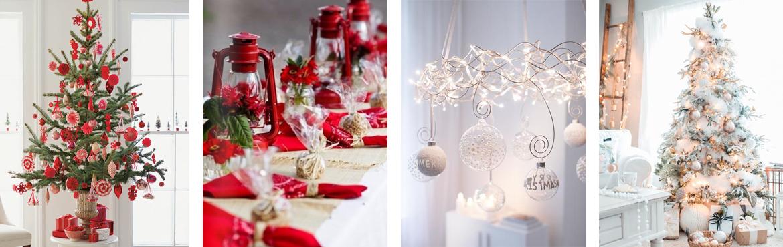 Decorazioni rosso e bianco