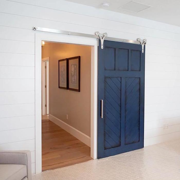 Porte scorrevoli con binario a vista troppo bravo - Porte scorrevoli per cabine armadio prezzi ...