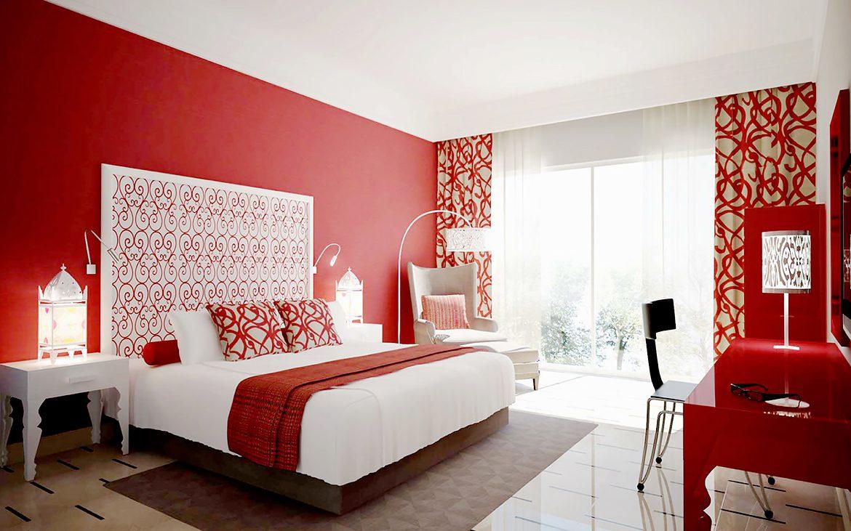 Camera da letto con parete rossa - Troppo Bravo