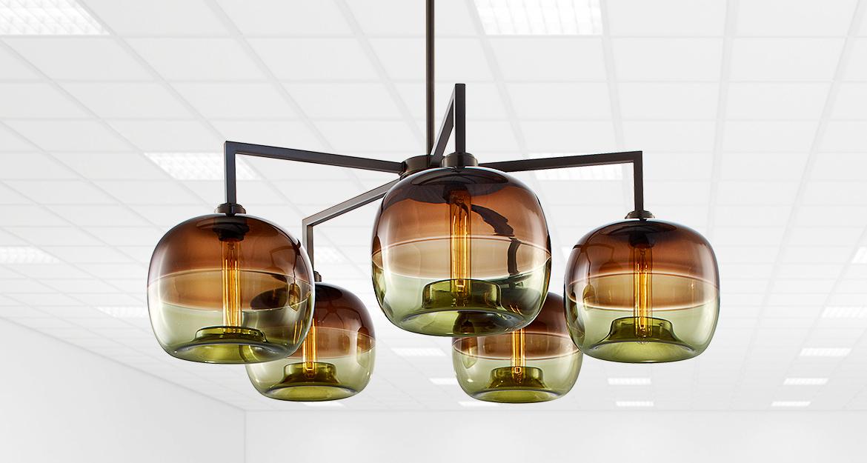 Lampadari moderni vetro