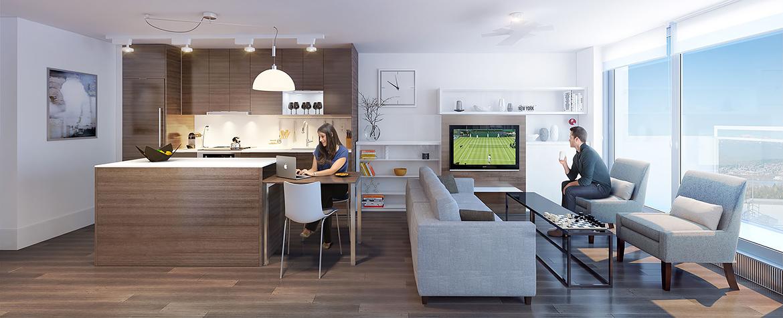 Concept Cucina Moderna Con Isola E Mobili Wenge Interior Design : Come arredare una cucina e un soggiorno in ambiente unico
