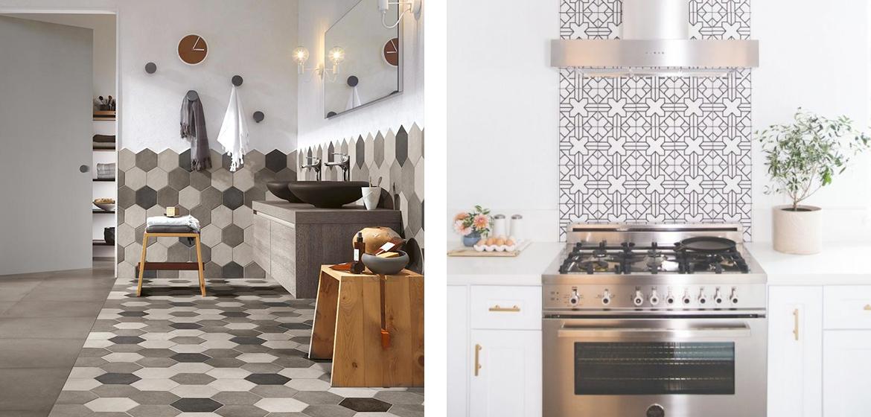 Come scegliere il giusto rivestimento per una cucina moderna for Piastrelle cucina disegnate