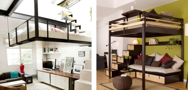 5 idee salvaspazio per la camera da letto - Camera con letto a soppalco ...
