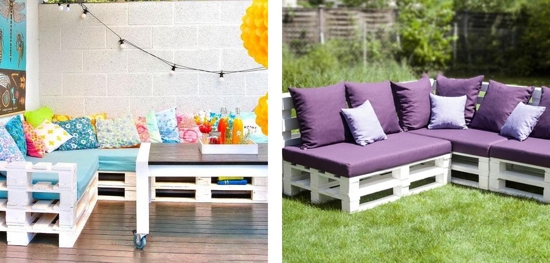 5 idee creative per arredare il giardino con i pallet for Arredare il giardino