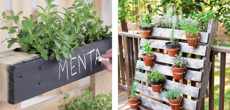 5 idee creative per arredare il giardino con i pallet for Idee per realizzare una fioriera