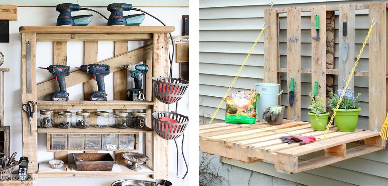 5 idee creative per arredare il giardino con i pallet for Arredare balconi piccoli