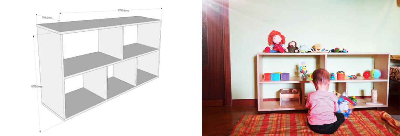 Mobili montessori fai da te la guida per costruire un mobile contenitore - Costruire un mobiletto ...