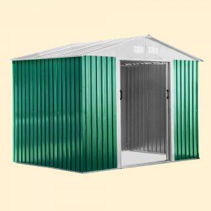 box casetta lamiera verde beige