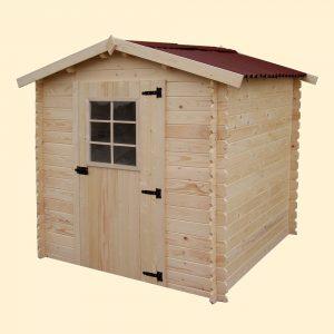 casetta in legno con pavimento