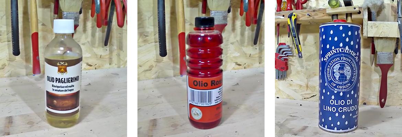 olio paglierino rosso lino crudo