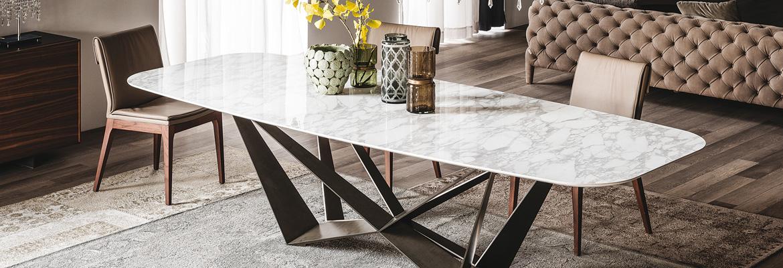 tavolo marmo design metallo
