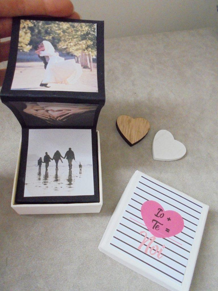 porta foto scatola idea san valentino