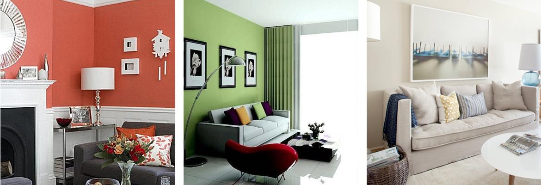 colore soggiorno colori tenui pastelli corallo verde chiaro sala