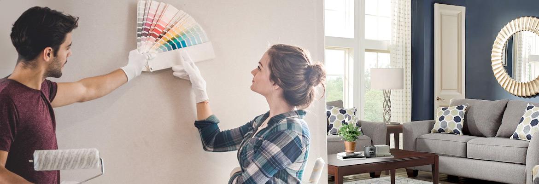 colori parete coppia soggiorno sala dipingere pareti