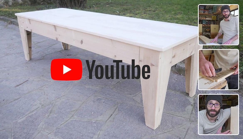 Costruire Un Tavolo Da Giardino In Legno.Panche Da Giardino Fai Da Te