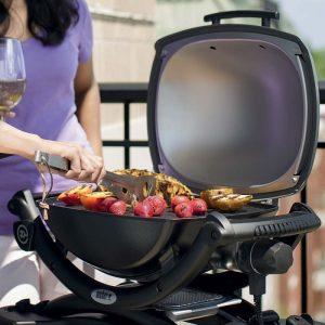 barbecue elettrico weber nero