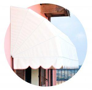 tenda cappottina da sole esterne ventaglio