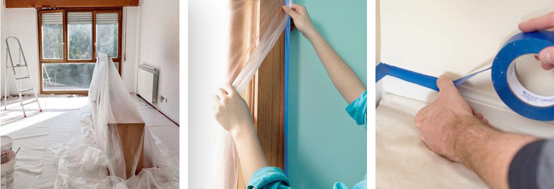 proteggere mobili imbiancare casa