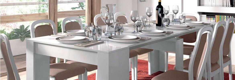 tavolo allungabile cucina bianco consolle