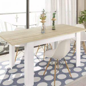 tavolo allungabile soggiorno bianco consolle