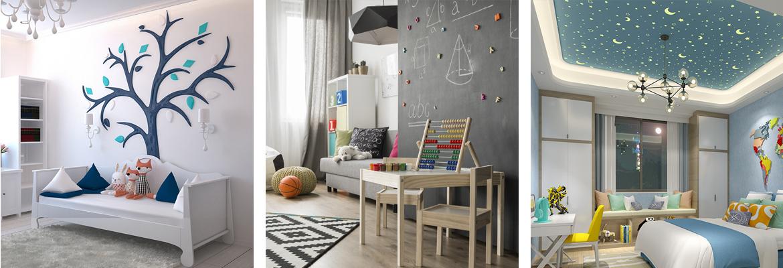 abbinamento colore pareti casa interni muro cameretta bambini