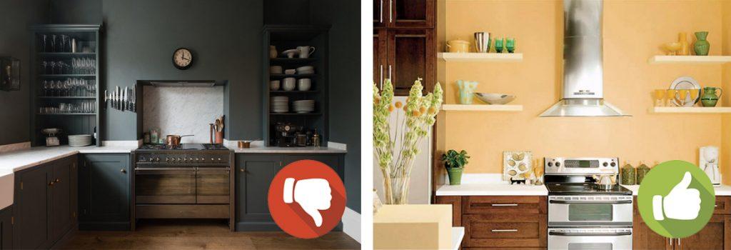 abbinamento colore pareti casa interni muro cucina