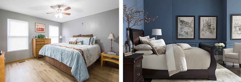 abbinamento colore pareti casa interni muro camera da letto
