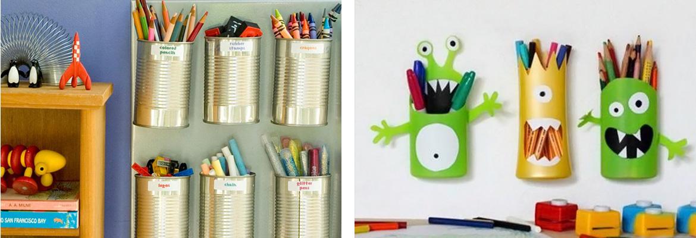 porta penne da muro fai da te bambini stanza