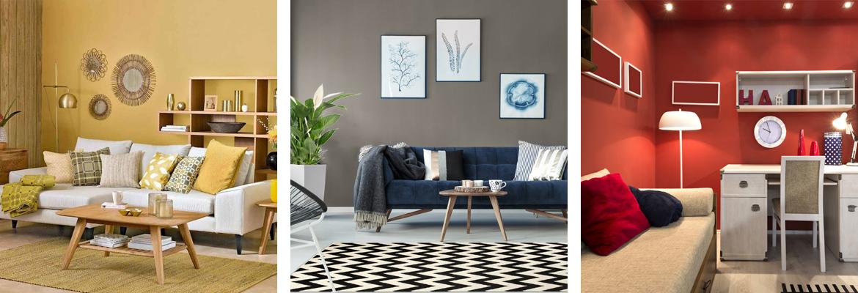 abbinamento colore pareti casa interni muro soggiorno