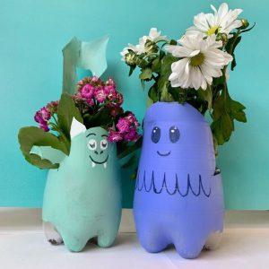 idee creative halloween decorazioni casa portavasi fiori