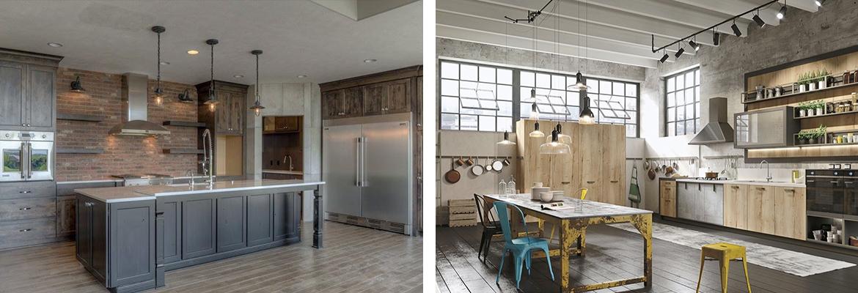 industrial chic arredamento stile casa moderno fabbrica cucina