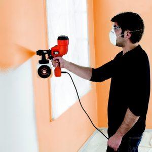 varie tecniche di pittura parete casa vernice muri pittura a spruzzo