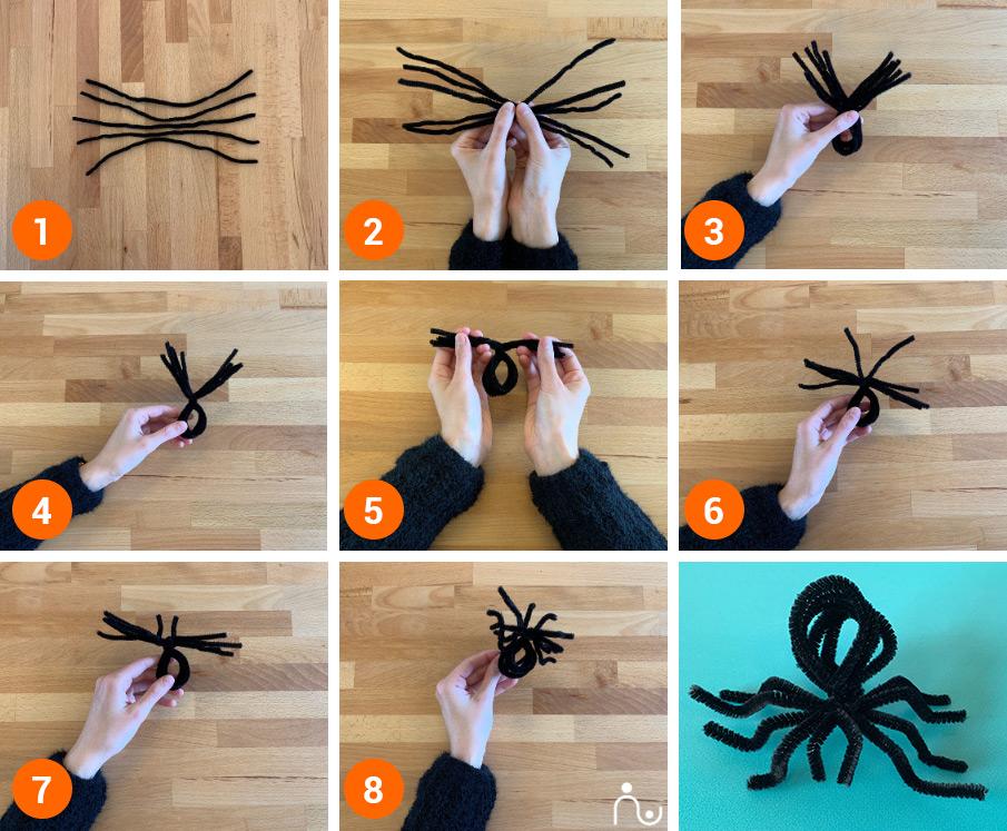 idee creative halloween decorazioni casa bambini ragnetti
