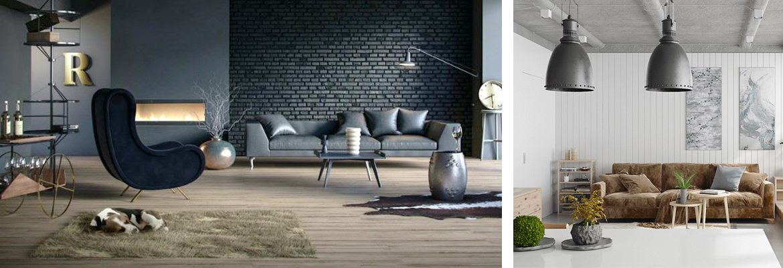 industrial chic arredamento stile casa moderno fabbrica salotto living room
