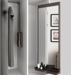 specchio estraibile idee per ottimizzare spazi armadio