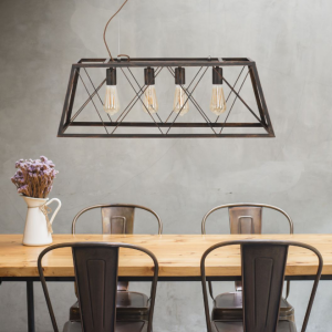 lampadario ferro e bronzo illuminazione