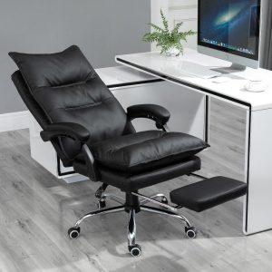 poltrona ufficio reclinabile poggiapiedi