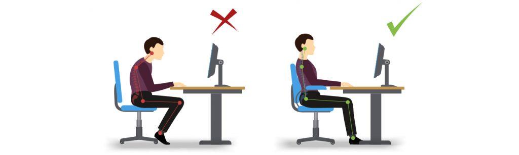 smart working posizione corretta